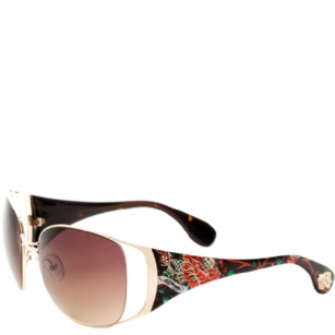 Ed Hardy Mum Lola Sunglasses- Tortoise - The Ed Hardy Mum Lola Sunglasses-Tortoise is a beautiful fashionable sunglasses designed by Ed Hardy and marketed by Christian Audigier. The Ed Hardy designer sunglasses features Flower graphics on temples with Ed Hardy logo detail.