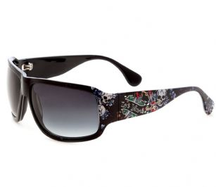 Ed Hardy Las Vegas Rock Sunglasses- Black - The Ed Hardy Las Vegas Rock Sunglasses is a beautiful fashionable sunglasses designed by Ed Hardy and marketed by Christian Audigier. The Ed Hardy designer sunglasses features Las Vegas graphics on temples with Ed Hardy logo detail.