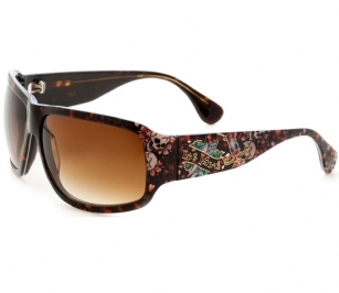 Ed Hardy Las Vegas Rock Sunglasses- Tortoise - The�Ed Hardy�Las Vegas Rock�Sunglasses is a beautiful fashionable sunglasses designed by Ed Hardy and marketed by Christian Audigier. The�Ed Hardy designer sunglasses features�Las Vegas�graphics on temples with�Ed Hardy logo detail.