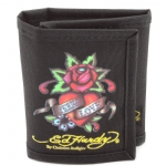Ed Hardy Caleb Eternal Love Kids Wallet - Black