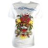Ed Hardy Mens Basic Crew Neck T-Shirt - Cream