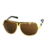 Affliction Roman Sunglasses - Gold/Black