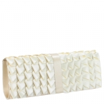 Jessica McClintock J60048/11 Satin Ribbon  Clutch - Ivory