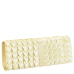 Jessica McClintock J60048/59 Satin Ribbon  Clutch - Champagne