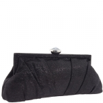 Jessica McClintock V61002 Pleated Clutch - Black
