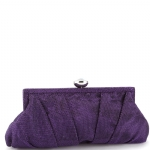 Jessica McClintock V61002 Pleated Clutch - Purple