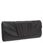 Jessica McClintock V91017 Satin Clutch - Black