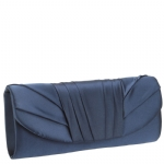 Jessica McClintock V91017 Satin Clutch - Navy