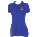 Ed Hardy Womens Geisha Basic Polo Shirt - Blue