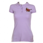 Ed Hardy Womens Hearts & Arrows Basic Polo Shirt - Lavender