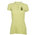 Ed Hardy Womens Peacock Basic Polo Shirt - Green