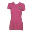 Ed Hardy Womens Rose Basic Polo Shirt - Pink