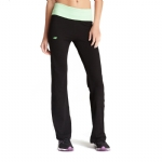 New Balance Fold Over Lounge Pants - Black/Gecko Green