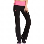 New Balance Fold Over Lounge Pants - Black/Pink Glow