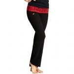 New Balance Mum Print Fold Over Lounge Pants - Black/Red