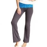 New Balance Mum Print Fold Over Lounge Pants - Grey/Blue