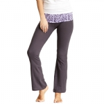 New Balance Mum Print Fold Over Lounge Pants - Grey/Purple